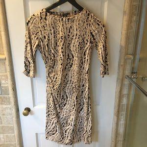 J.McLaughlin Animal Print Sheath Dress